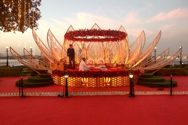Effects Tech Total Event Production provided services at a wedding ceremony in Udaipur.