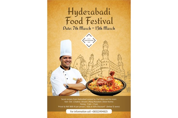 Host venue for the 'Hyderabadi Food Festival'.