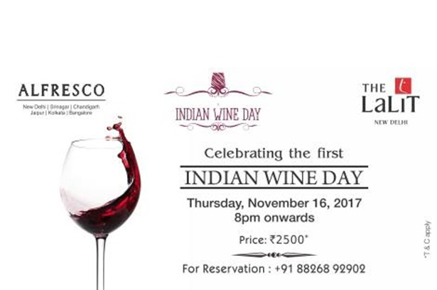 Host venue for Indian Wine Day celebration.