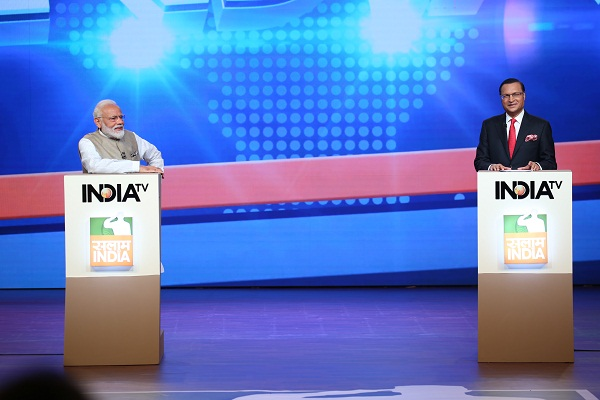PM Narendra Modi and Anchor Rajat Sharma Come Together For