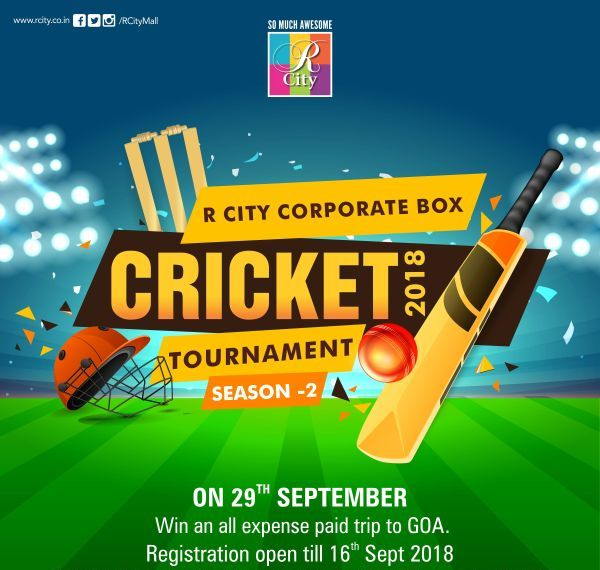 Invitation For Corporate Cricket Tournament: R City, Mumbai Announces Corporate Box Cricket Tournament